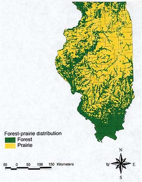 Figure 2: Illinois Forest-prairie Distribution