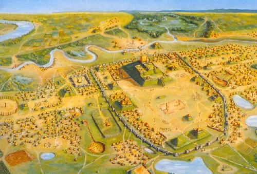Figure 3: Artist rendering of Cahokia