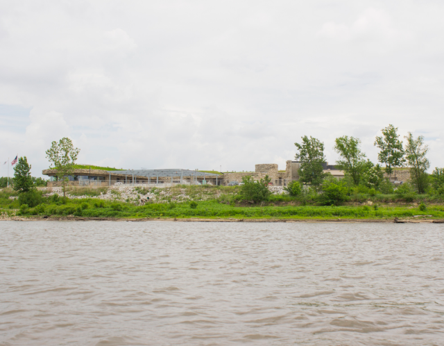 Figure 1: NGRREC Field Station as seen from the river.