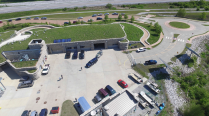 An aerial view of the Jerry F. Costello Field Station